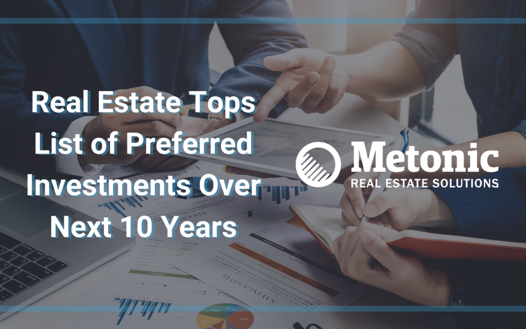 Real Estate Tops List of Preferred Investments Over Next 10 Years